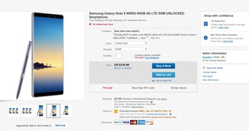 Deal: Galaxy Note 8, eBay, $320, excellent condition, unlocked, unbelievable (Updated)