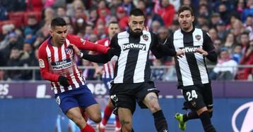 El Atlético derrota al Levante con un gol de penalti de Griezmann