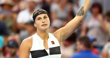 Two fans fight over tennis star Aryna Sabalenka's sweaty headband following match