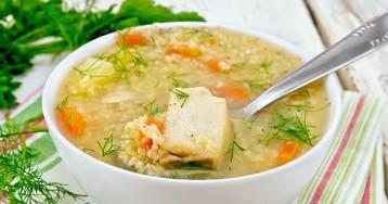 Суп с рыбными консервами и пшеном