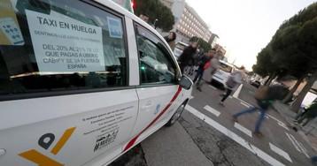 Los taxistas cifran el seguimiento de la huelga en Madrid en el 100 %