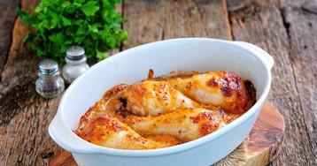 Куриные голени в маринаде из йогурта, горчицы и соевого соуса