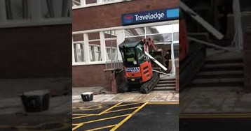Unpaid Contractor Obliterates Travelodge Reception With Digger