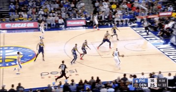 Corey Brewer Celebrates Two-Handed Flush With A Kick To Torrey Craig's Head