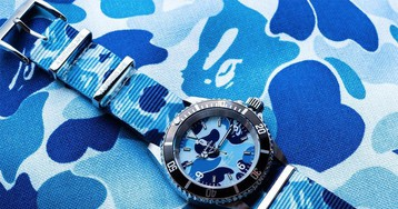 BAPE Shows Off New Blue Camo Type 1 BAPEX Watch