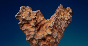This heart-shaped meteorite will be auctioned off just in time for Valentine's Day