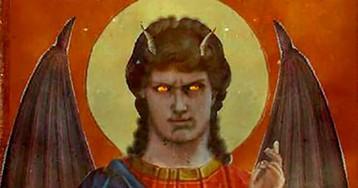 Адописные иконы — черти под ликами святых