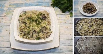 Перлотто с белыми грибами: пошаговый фото-рецепт