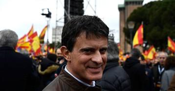 Manuel Valls esquiva la foto con Vox