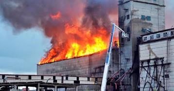 Пожар наэлеваторе вСамарской области немогли потушить двагода
