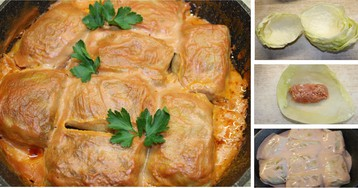 Домашние голубцы в сливочно-томатном соусе: пошаговый фото рецепт