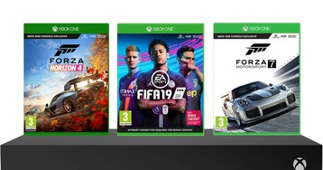 This bundle includes an Xbox One X, 'Forza Horizon 4', 'Forza MotorSport 7', and 'FIFA 19' for under £400