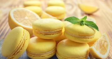 Лимонные макаруны