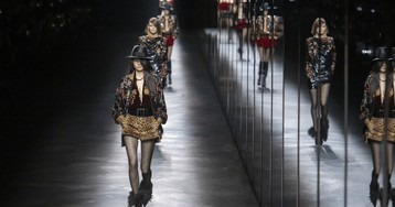 Anthony Vaccarello Follows the '80s Trend to Its Dayglo Conclusion at Saint Laurent Fall 2019