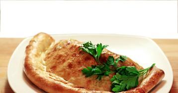 Кальцоне с мясом и грибами