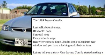 Hilarious Ad For Toyota Corolla Is The Most Honest Thing On The Internet