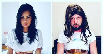 Парень из России создает смешные пародии на фото знаменитостей