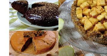 Постные десерты (часть 1): кофейный пирог, шоколадный кекс, яблочный тарт (видео рецепты и пошаговые фото)