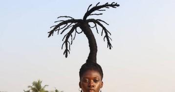 Фантастические прически африканской художницы