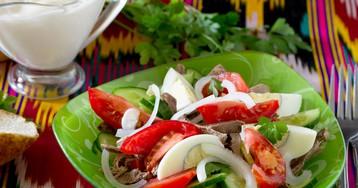 """Узбекский салат """"Бахор"""""""