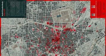 El mapa que muestra los lugares de Madrid bombardeados en la Guerra Civil
