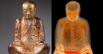 Секреты тысячелетней мумии, спрятанной внутри статуи Будды