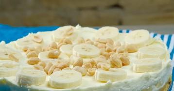 Воздушный банановый торт без выпечки