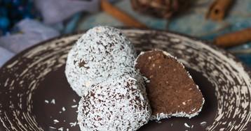 """Пирожное """"Картошка"""" в кокосовой стружке"""