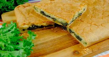 Пирог с щавелем: видео рецепт и пошаговые фото