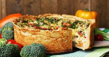 Овощной пирог с брокколи