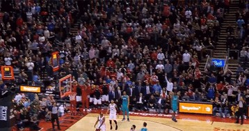 Watch These Raptors Fans Get Their Hearts Ripped Out By Jeremy Lamb's Buzzer-Beater