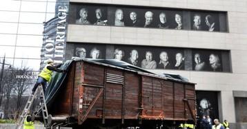 German Train Car Arrives in New York for Auschwitz Exhibit