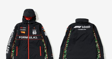 Get Your First Look at BAPE's Formula 1 Collab, Dropping This Weekend