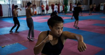 Chinese boxer becomes 'queen of the ring' – in pictures