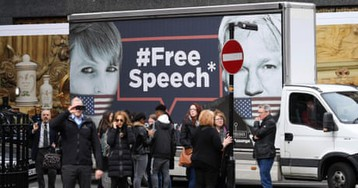 Supporters gather after reports Assange may be ousted from embassy