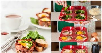 Маффины с беконом и яйцом к завтраку: пошаговый фото рецепт