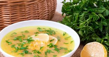 Диетический лимонный суп
