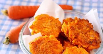 Аппетитные морковные оладьи