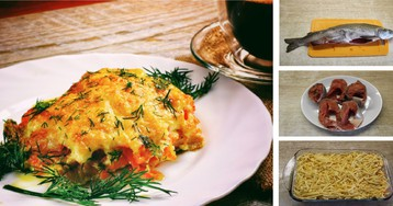 Горбуша под морковной шубой: пошаговый фото рецепт