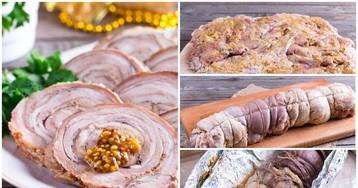 Рулет из свиной брюшины: пошаговый фото рецепт