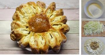 Пирог «Подсолнух»: пошаговый фото рецепт