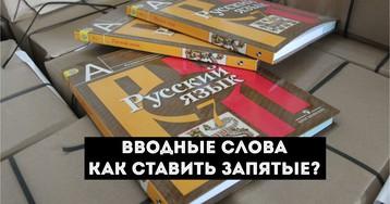 Вводные слова в русском языке. Как ставить запятые в предложениях с ними?