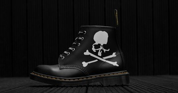 END. Clothing & MASTERMIND Add Skeletal Detailing to the Dr. Martens 101