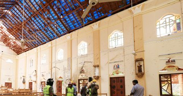 At St. Sebastian's Church, in Negombo, Sri Lanka, After the Massacre