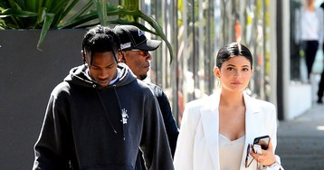 Kylie Jenner Wore a Dress With the Highest Leg Slit to Go Shopping With Travis Scott, Because Why Not
