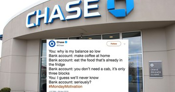 Chase bank tried to be relatable on Twitter and got absolutely dunked on