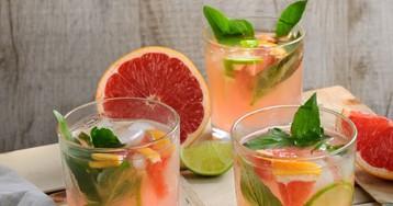 Домашний базиликово-грейпфрутовый лимонад