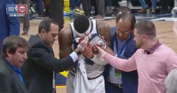 Torrey Craig's Face Smashed Up And Bloodied By Opponent's Arm And Teammate's Leg [Update]