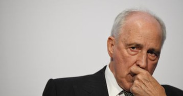 Morrison 'a fossil with a baseball cap': Paul Keating holds court at Labor conference – video