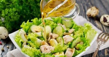 Салат из печени трески с лимонной заправкой